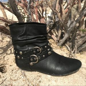 Chinese Laundry Black Vegan Leather Ankle Boots